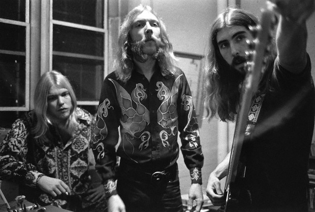 Musicians Gregg and Duane Allman with Berry Oakley