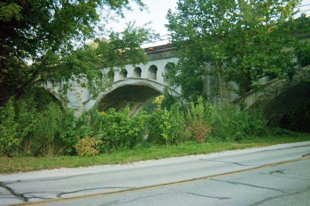 "The ""haunted bridge"" near Avon, Indiana"