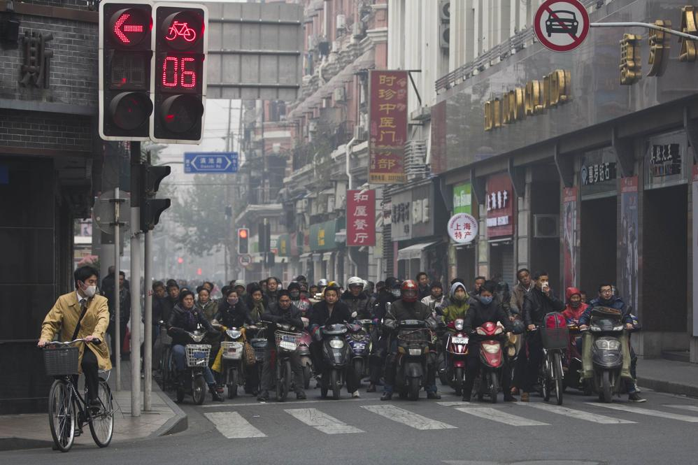 Scooters in Shanghai