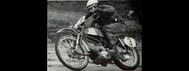 Photo of 49cc Hercules Rider #3 N Gobler on the way to a Gold ISDT 1965