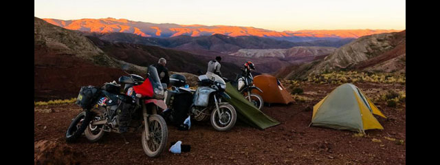 off-road motorcycle camping